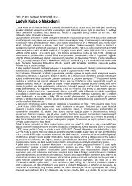 Ludvík Kuba o Makedonii