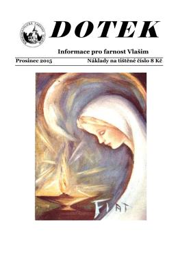 Prosinec 2015 - Římskokatolická farnost Vlašim