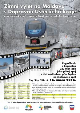 Zimní výlet na Moldavu s Dopravou Ústeckého kraje