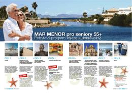 MAR MENOR pro seniory 55+