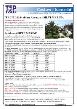 ITÁLIE 2014- oblast Abruzzo - SILVI MARINA