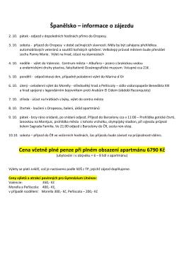 Španělsko 2015 - změna - Gymnázium TG Masaryka, Litvínov