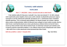 Turistický oddíl mládeže TOM 2010