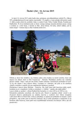 Školní výlet - 16. června 2015