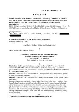 Dražební vyhláška JUDr.Kataríny Maisnerové, povinný