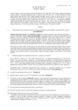 U  S N  E  S E  N  Í - Exekutorský úřad Zlín