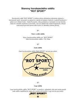 """Stanovy horolezeckého oddílu """"ROT SPORT"""""""