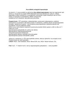 Kurz dětské urologické laparoskopie, únor 2015