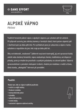 Display list k produktu Alpské vápno
