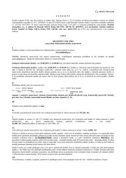 Č.j. 150 EX 2781/14-30 USNESENÍ Soudní exekutor
