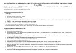 ŠKOLNÍ ŘÁD - Obchodní akademie a Hotelová škola Třebíč