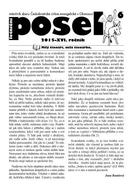 Posel 2015/6 - ČCE Olomouc