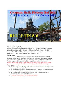 Přidán Bulletin č.6