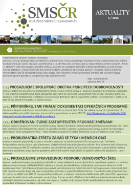7. 5. / prosazujeme spolupráci obcí na principech dobrovolnosti 12
