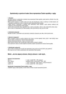 Společenský a sportovní kodex člena reprezentace České republiky