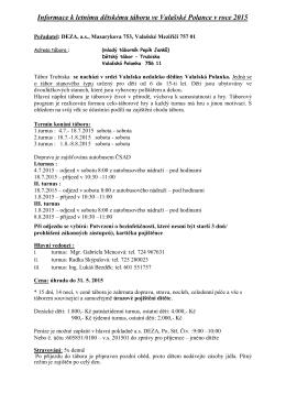 Základní info od a.s. Deza