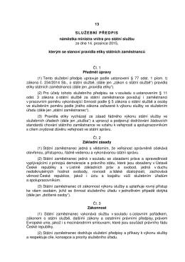 Předpis č. 13