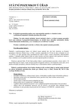 Zveřejnění nepropachtovaného resp. nepronajatého majetku ve