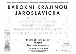 Státní okresní archiv Znojmo Divišovo náměstí 5