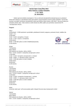Aerials Open Camp Štíty 2015 Aleše Valenty a Lukáše