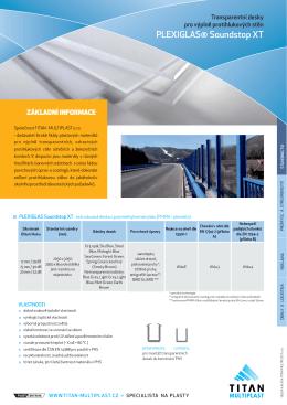 Transparentní desky PHS - TITAN