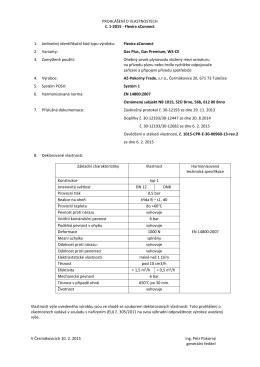 Prohlášení o vlastnostech Flexira xConnect Gas - AZ