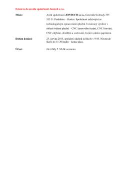 25.6.2015 Exkurze - tváření plechů, Pardubice - Rosice n.L.