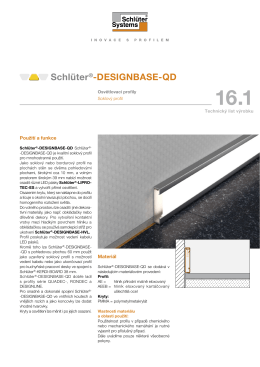 Schlüter ® -DESIGNBASE-QD | technický list výrobku (pdf