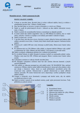 Stáhnout montážní návod - Plastové jímky a septiky od Aquasep.
