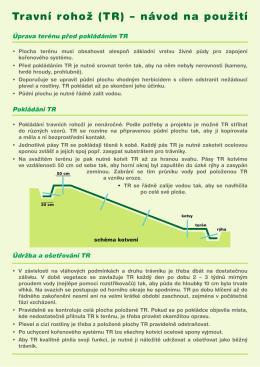 Travní rohož (TR) – návod na použití