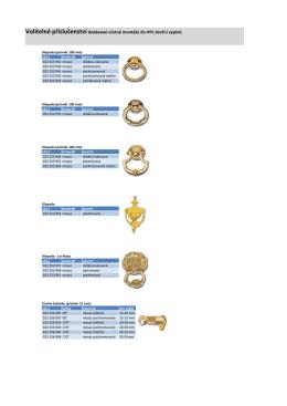 Volitelné příslušenství dodávané včetně montáže do HPL dveřní