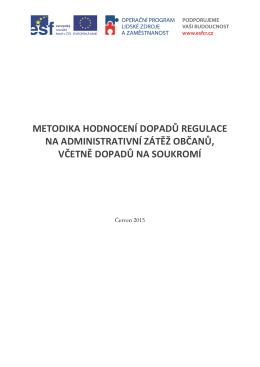 Metodika hodnocení dopadů regulace na administrativní zátěž