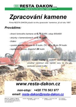 RESTA DAKON- zpracování kameniva EUR
