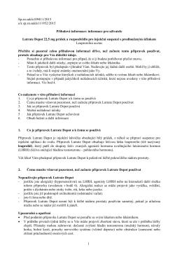 1 Příbalová informace: informace pro uživatele Lutrate