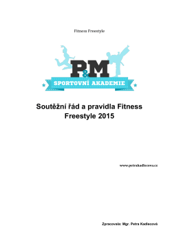 2. fitness freestyle - Sportovní akademie P&M