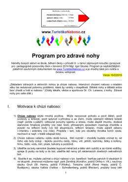 Program pro zdravé nohy dětí