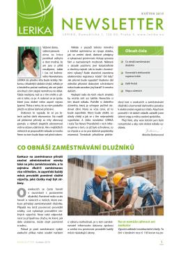 Newsletter 01 2015 LERIKA cz