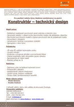 Konstruktér – technický design