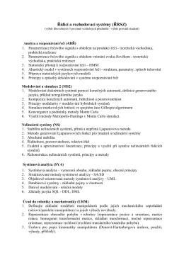 Řídicí a rozhodovací systémy (ŘRSZ)