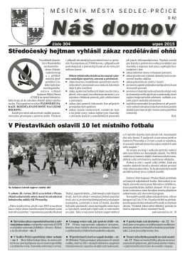 Srpen 2015 - Město Sedlec