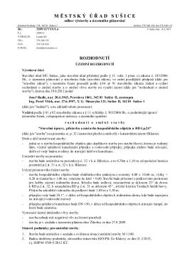 územní rozhodnutí_p. Rudle přístavba