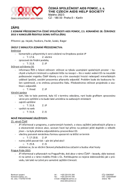 ZÁPIS - Česká společnost AIDS pomoc