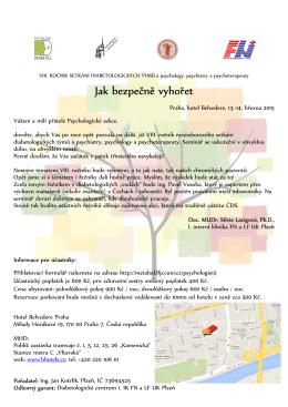 Program ke stažení zde - Česká diabetologická společnost