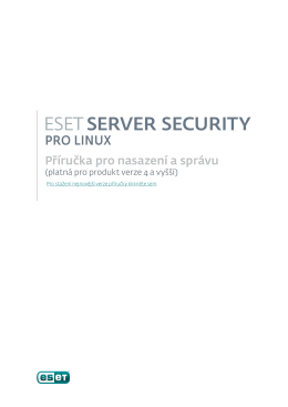 ESET File Security pro Linux/BSD/Solaris