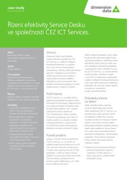 Řízení efektivity Service Desku ve společnosti ČEZ ICT Services