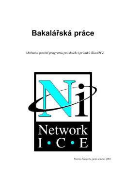 Možnosti použití programu pro detekci průniků BlackICE