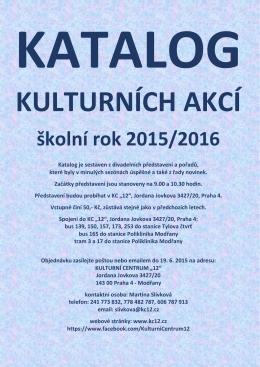 katalog pořadů na školní rok 2015 - 2016