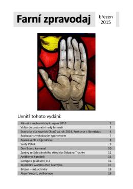 Farní zpravodaj březen - Salesiánské středisko Štěpána Trochty