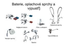 Katalog - baterie, oplachové sprchy a výpustě