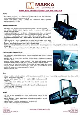 RJ-Tvarovací svítidla